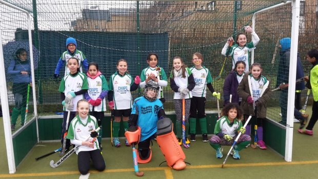 The U10 Girls Jan 2018 - a bit cold, but mostly smiling.