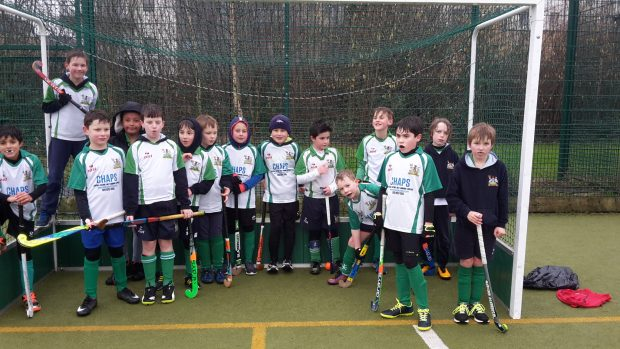 The U10 Boys Jan 2018 - clearly the weather wasn't all bad!